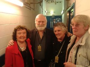 Breda, Maura and Anne (Irish Pensioners Choir) with John Sheahan, Dubliners