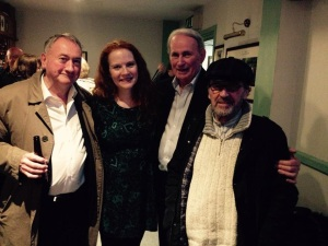 The band - Billy Faughnan (piano), Jacquelyn Hynes (flute), Tom O'Connell (button accordion) and Billy Steven (guitar)