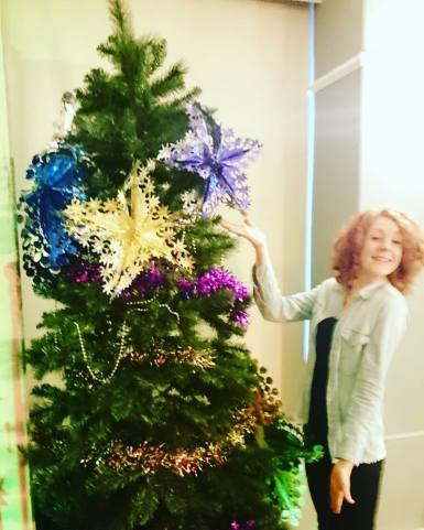 Kathy and the Christmas tree